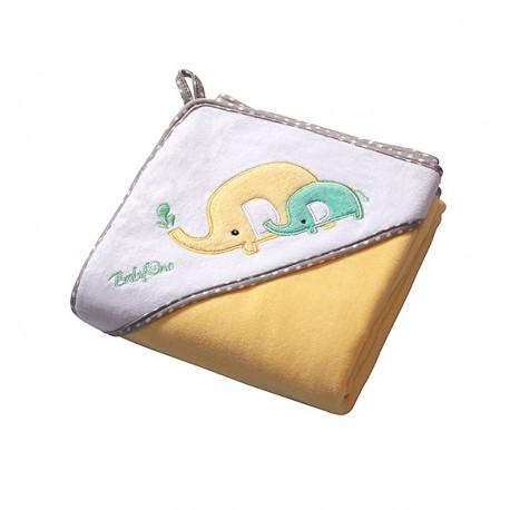 Ręcznik kąpielowy WELUR Żółty SŁONIKI