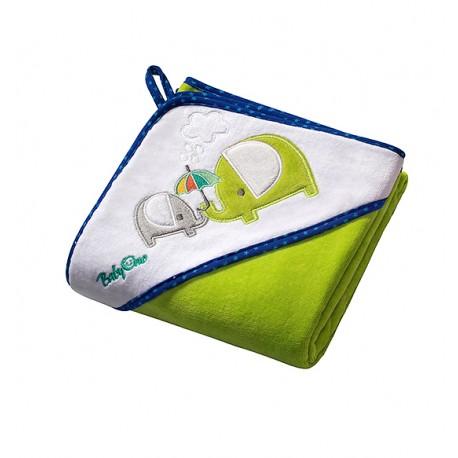 Ręcznik kąpielowy WELUR Zielony SŁONIKI