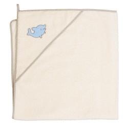Ręcznik z kapturkiem DELFINEK BEŻOWY Ceba