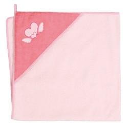 Ręcznik kąpielowy 100x100 Serduszka Różowe