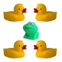 Zabawki do kąpieli Kaczuszki i żabka 5szt.