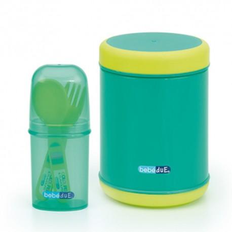 Pojemnik termiczny na jedzenie 500ml zielony Bebedue