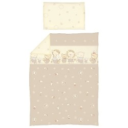 Pościel do łóżeczka 2-el. Kaczuszki Brązowe Ceba