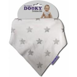 Chustka śliniak bandamka Dribble Bib Dooky Silver Stars