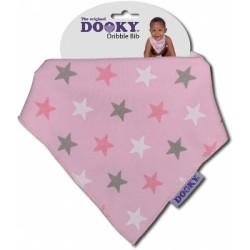 Chustka śliniak bandamka Dribble Bib Dooky Pink Stars