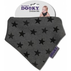 Chustka śliniak bandamka Dribble Bib Dooky Grey Stars