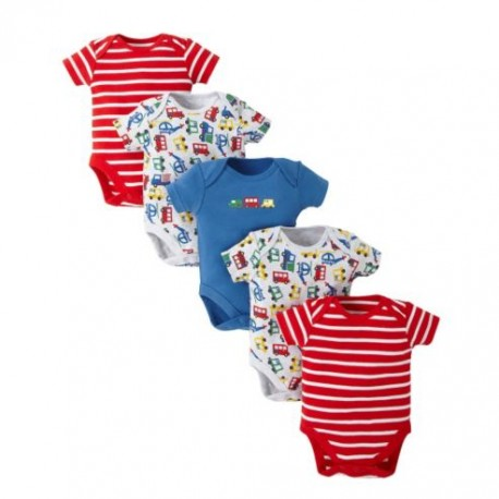 Body 5-pack MOTHERCARE Pojazdy rozm.56