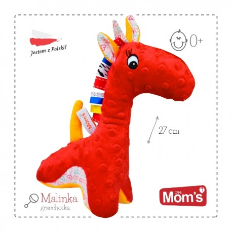 Przytulanka dla niemowląt żyrafka MALINKA Mom's Care