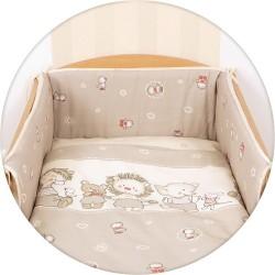 Pościel do łóżeczka 3-el. Kaczuszki Brązowe