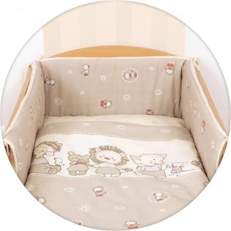 Pościel do łóżeczka 3-elementowa Kaczuszki Brązowe Ceba
