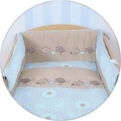 Pościel do łóżeczka 3-elementowa Ptaszki Brązowe Ceba