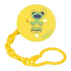 Łańcuszek do smoczka Żółty