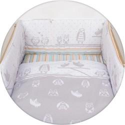Pościel do łóżeczka 3-el. Sówki Szare