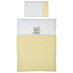 Pościel do łóżeczka 2-el. haft Zebra Żółta