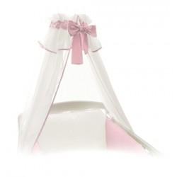 Baldachim - moskitiera - Różowy