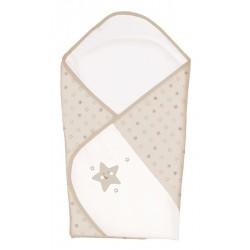 Rożek - Gwiazdki Beżowe haft