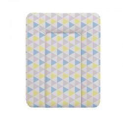 Przewijak na komodę 70x50cm Trójkąty niebiesko-żółte