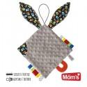 Przytulanka dla niemowląt z uszami szara Mom's Care