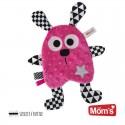 Przytulanka dla niemowląt KRÓLIK z gwiazdką różowy Mom's Care
