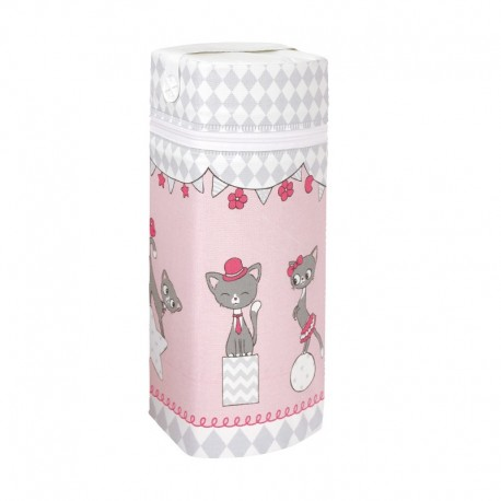 Termoopakowanie do butelek Kotki Różowe