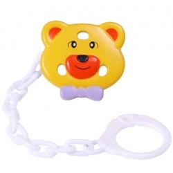 Łańcuszek do smoczka - Żółty Miś