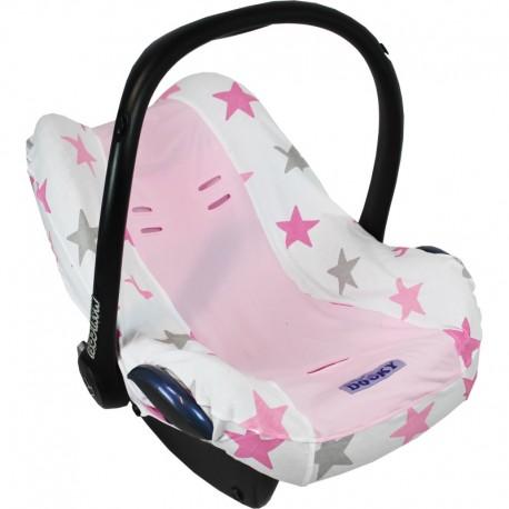 Pokrowiec do fotelika Dooky Pink Stars
