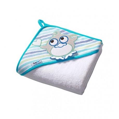 Ręcznik z kapturkiem 76x76 cm Biały PTASZEK