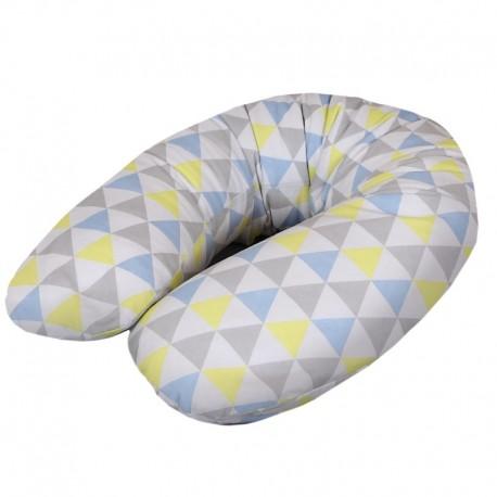 Poduszka dla kobiet w ciąży Trójkąty Niebiesko-Żółte