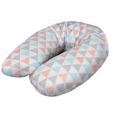 Poduszka dla kobiet w ciąży Trójkąty Turkusowo-Pomarańczowe