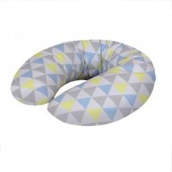 Poduszka do karmienia Trójkąty Niebiesko-Żółte Ceba