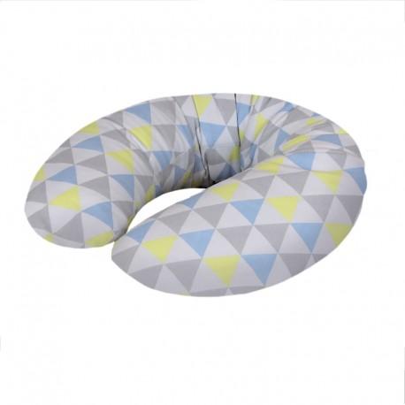 Poduszka do karmienia Trójkąty Niebiesko-Żółte