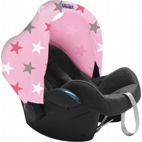 Osłonka do fotelika Dooky Hoody Baby Pink/Pink Stars