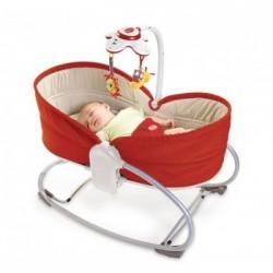 Leżaczek bujaczek łóżeczko 3w1 ROCKER Tiny Love czerwony