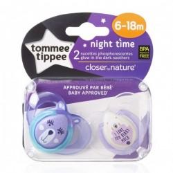 Smoczek uspokajający NIGHT TIME Tommee Tippee 6-18m fioletowy