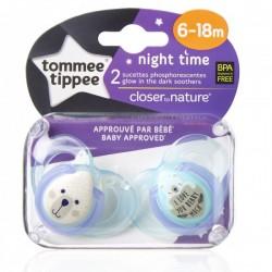 Smoczek uspokajający NIGHT TIME Tommee Tippee 6-18m zielony