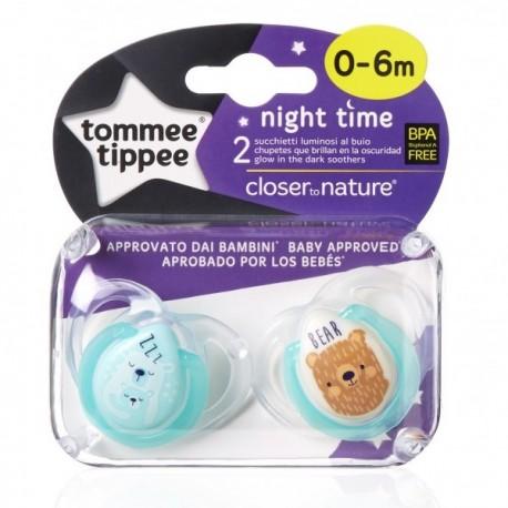 Smoczek uspokajający NIGHT TIME Tommee Tippee 0-6m zielony