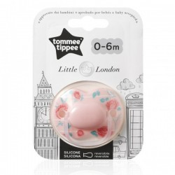 Smoczek uspokajający LITTLE LONDON Tommee Tippee 0-6m GIRL