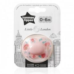 Smoczek uspokajający LITTLE LONDON Tommee Tippee 0-6m GIRL