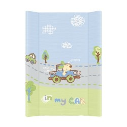 Przewijak na łóżeczko 50x70cm - In My Car niebiesko-zielony