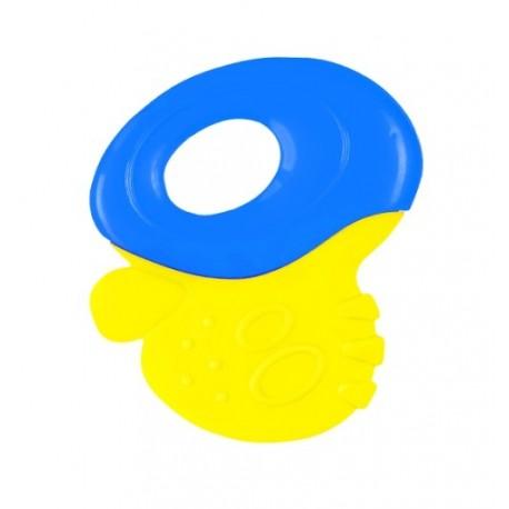 Gryzak z grzechotką Żółto-niebieski BabyOno