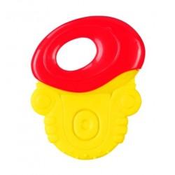 Gryzak z grzechotką - Żółto-czerwony