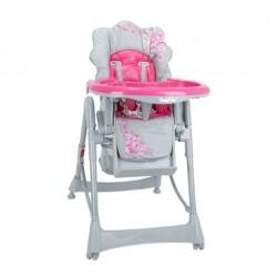 Krzesełko do karmienia - Szaro-różowe