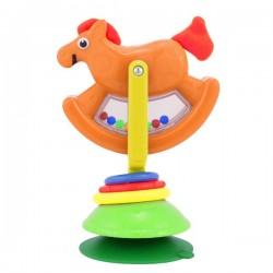 Zabawka z przyssawką KONIK NA BIEGUNACH Sassy