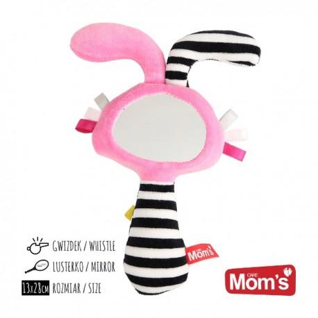 Zabawka dla niemowląt LUSTERKO piszczek różowe Mom's Care