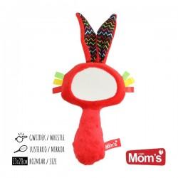 Zabawka dla niemowląt LUSTERKO piszczek czerwone Mom's Care