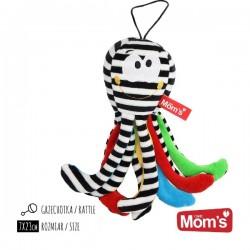 Mini Ośmiornica Czarno-biała Mom's Care