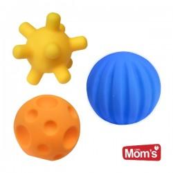 Piłeczki sensoryczne edukacyjne 3szt  Hencz Toys
