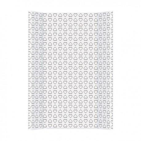Przewijak na łóżeczko Serduszka czarno-białe Ceba