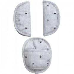Uniwersalne nakładki na pasy Light Grey Crowns Dooky