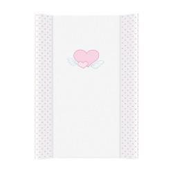 Przewijak na łóżeczko 50x70cm - Serduszka Biało-różowe